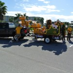 Ponce Inlet Lions Club Float at Christmas Parade 2014