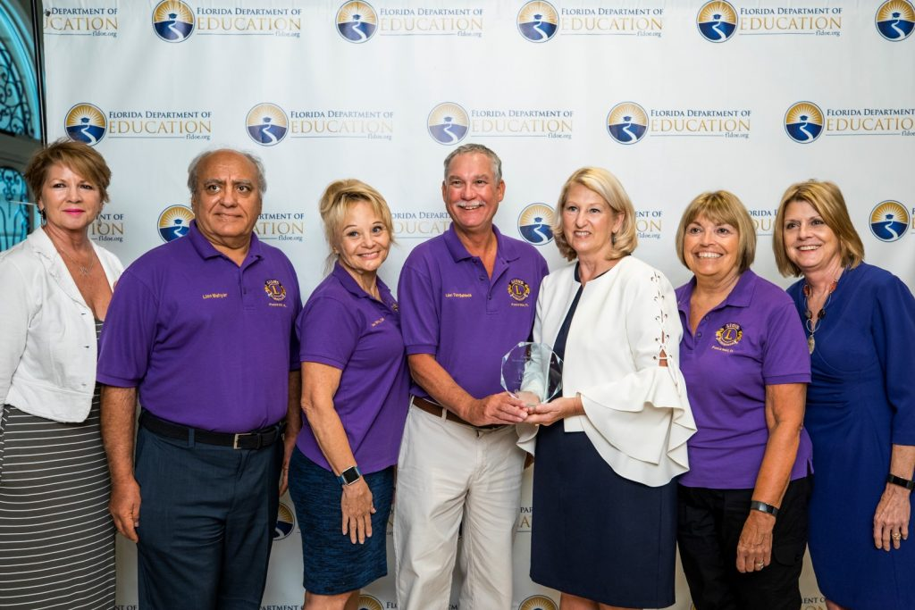 Commissioner Pam Stewart Honors Ponce Inlet Lions Club At 2018 Learners to Earners Workforce Summit